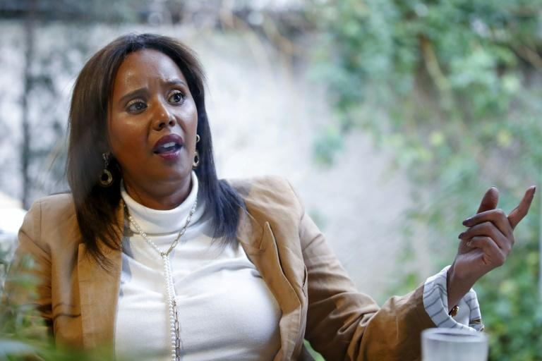The first Israeli Jewish woman of Ethiopian origin to be elected to the Knesset (parliament), Pnina Tamano Shata (AFP Photo/JACK GUEZ)