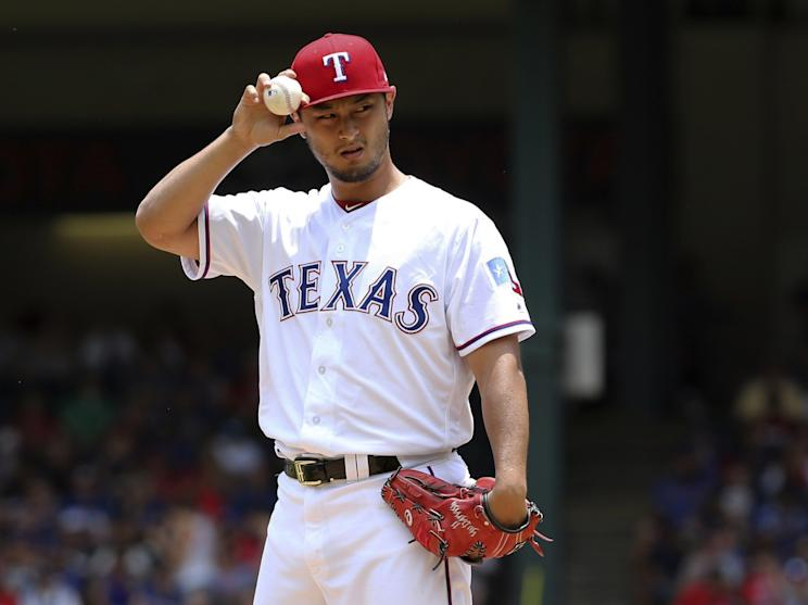 Yu Darvish received one final salute from the Texas Rangers. (AP)