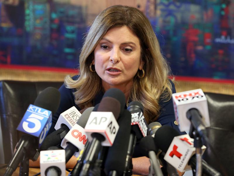 Lisa Bloom is shown during a press conference in California last November. (Frederick M. Brown via Getty Images)