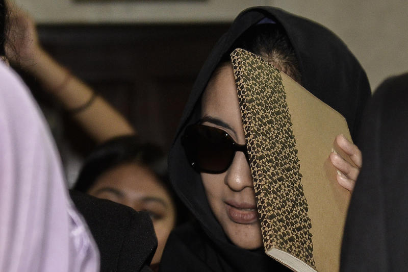 Samirah Muzaffar, who is accused of murdering her husband, Cradle Fund CEO, Nazrin Hassan, attends her trial at the Shah Alam High Court September 6, 2019. — Picture by Miera Zulyana