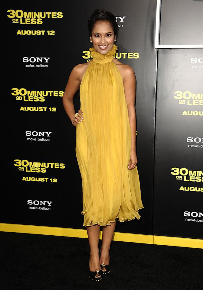 """Dilshad Vadsaria at the Los Angeles premiere of <a href=""""http://movies.yahoo.com/movie/1810160427/info"""">30 Minutes or Less</a> on August 8, 2011."""