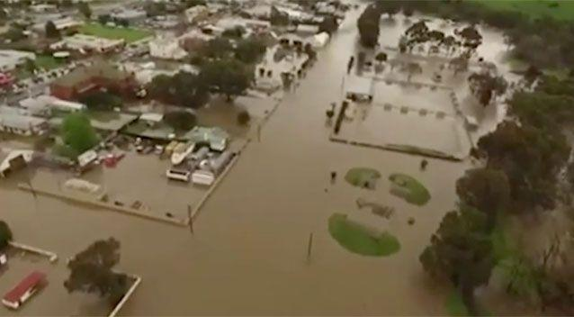 An aerial shot of Coleraine. Source: 7News