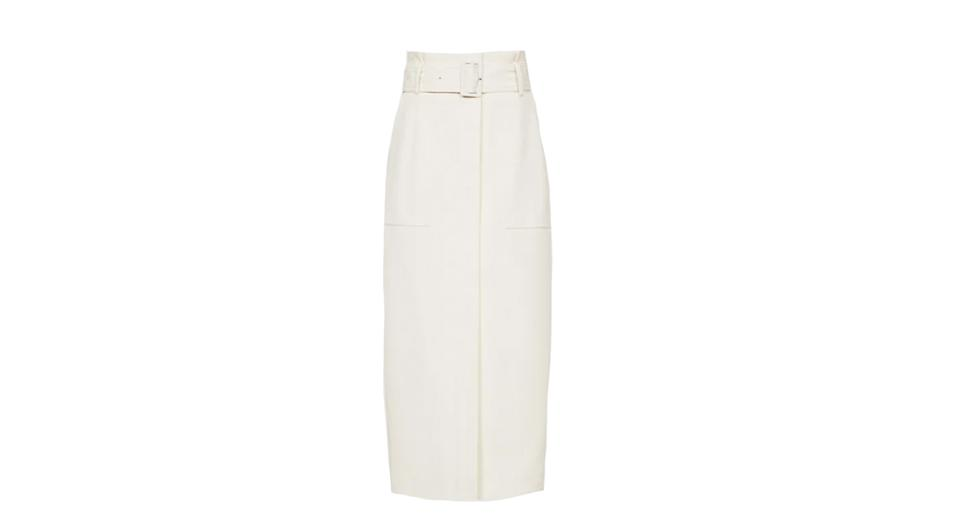 Luno Belted Midi Skirt