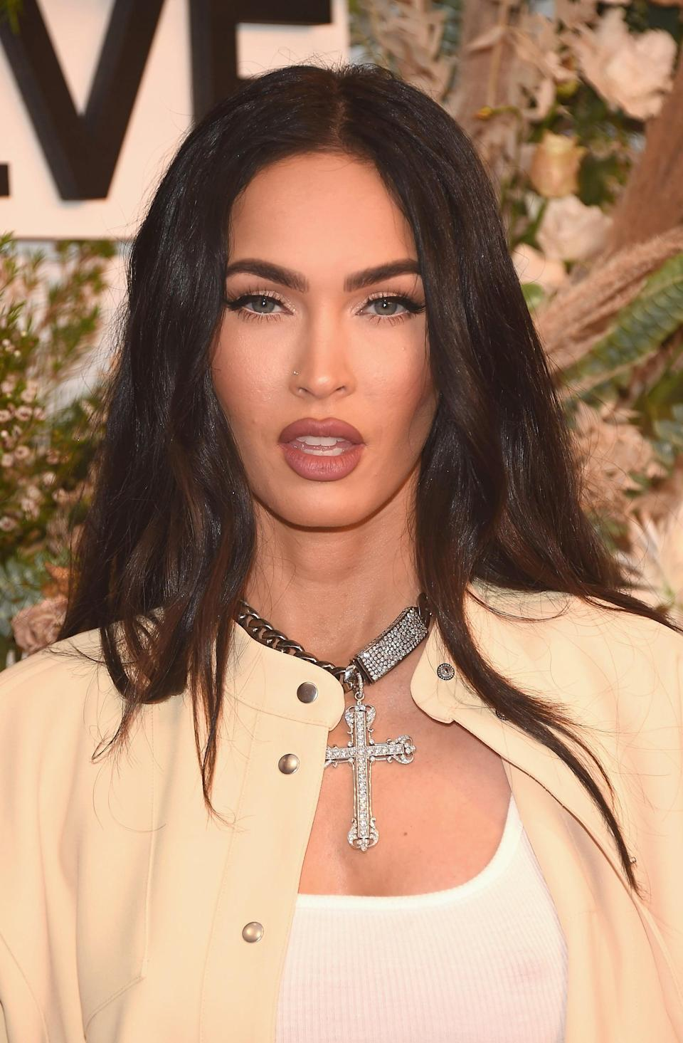 NEW YORK, NEW YORK - SEPTEMBER 09: Megan Fox attends the inaugural REVOLVE GALLERY at Hudson Yards on September 09, 2021 in New York City. (Photo by Gary Gershoff/Getty Images)