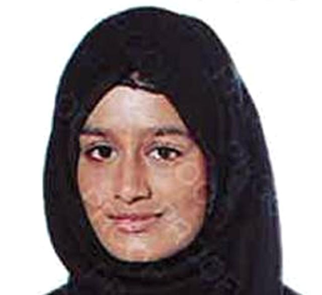 Shamima Begum is pictured aged 15, when she travelled to Syria via Turkey to join Isis (PA Images)