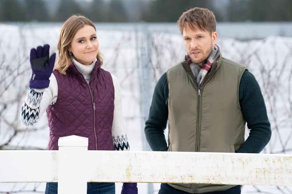 <p><strong>Friday, November 13 at 8 p.m.</strong></p><p>Brooke (played by <strong>Julianna Guill</strong>) heads home to help a struggling family-owned winery get back on their feet, but quickly learns that the town's Christmas spirit is rooted in the vine (get it?). That's why she works closely with the winery's owner, Tyler (played by <strong>Jon Corr</strong>), to restore the town's faith as well as his winery's future. </p>
