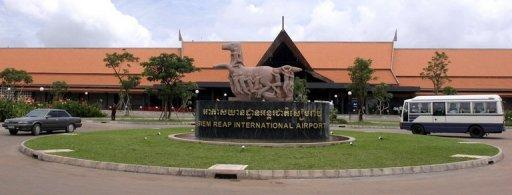 The Siem Reap airport in Cambodia, where the Bangkok Airways flight was trying to land