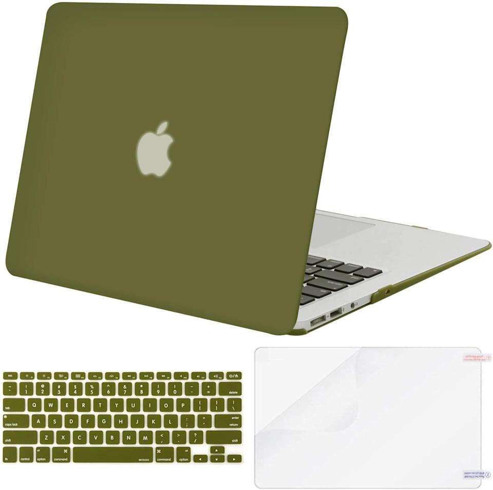 <p><span>Plastic Hard Shell Case & Keyboard Cover & Screen Protector</span> ($15, originally $19)</p>