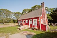 """<p>airbnb.com</p><p><strong>$199.00</strong></p><p><a href=""""https://www.airbnb.com/rooms/577322"""" rel=""""nofollow noopener"""" target=""""_blank"""" data-ylk=""""slk:BOOK NOW"""" class=""""link rapid-noclick-resp"""">BOOK NOW</a></p><p>Sandwiched between Newport and Narragansett this cabin on a farm makes a quaint home base for guests wanting beach access or to take excursions on the provided bikes.</p>"""