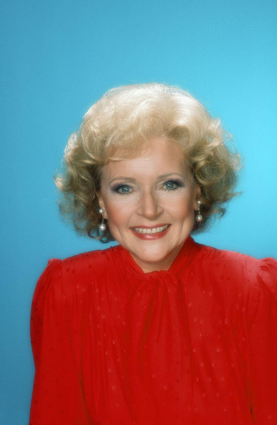 """<p>In 1983, White was the star of the NBC game show, <em>Just Men!</em>. That year, she became the first woman to win a Daytime Emmy Award in the category of Outstanding Game Show Host. She was <a href=""""http://edition.cnn.com/2010/LIVING/worklife/02/23/mf.betty.white.why.love/"""" rel=""""nofollow noopener"""" target=""""_blank"""" data-ylk=""""slk:once known as"""" class=""""link rapid-noclick-resp"""">once known as</a> the 'First Lady of Game Shows.' </p>"""