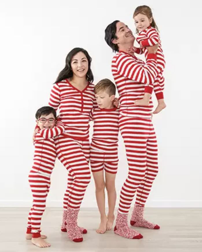 """<p><strong>pajamas</strong></p><p>hannaandersson.com</p><p><strong>$33.60</strong></p><p><a href=""""https://go.redirectingat.com?id=74968X1596630&url=https%3A%2F%2Fwww.hannaandersson.com%2Ffamily-match-stripes-red%2F&sref=https%3A%2F%2Fwww.countryliving.com%2Fshopping%2Fg4956%2Fmatching-family-christmas-pajamas%2F"""" rel=""""nofollow noopener"""" target=""""_blank"""" data-ylk=""""slk:Shop Now"""" class=""""link rapid-noclick-resp"""">Shop Now</a></p><p>Red and white stripes are reminiscent of candy canes. </p>"""