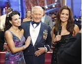 <p>Buzz Aldrin is the second man to ever walk the moon. But can he moonwalk?! (Please excuse the horrible, horrible pun.) Unfortunately, he came in second to last during the competition. He's still a legend though!</p>