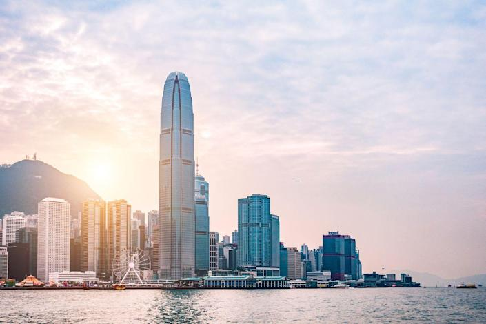 """<p><strong>Location:</strong> Hong Kong, China</p><p><strong>Height:</strong> 1,352 feet</p><p><strong>Completion Date:</strong> 2003</p><p>Across the harbor from the International Commerce Center (number 6 on this list) this building has the fortune of being sited over relatively shallow bedrock, about 100 feet down. (Closer bedrock means a foundation does not have to run as deep.) Still, for stability, Two International Finance Center sits on a """"raft"""" foundation—a thick slab of concrete reinforced with steel, typically used in soft soil or marshy conditions.</p>"""