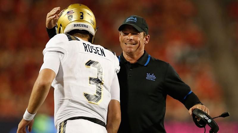 Former UCLA coach Jim Mora says the Browns should take Sam Darnold