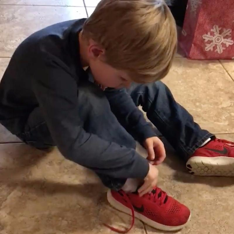 See Why This Boy's Shoe-Tying Hack Is Going Viral