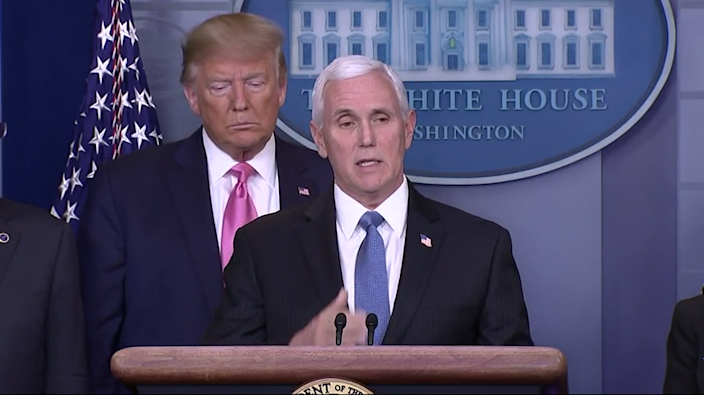 President Donald Trump declares that the U.S. is ready for whatever the coronavirus threat brings, as he puts Vice President Mike Pence in charge of overseeing the nation's response. (Feb. 26)