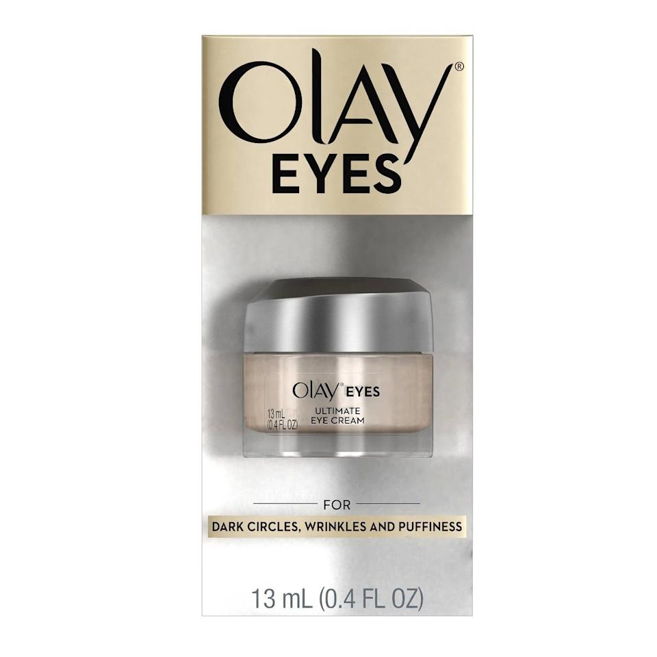 <p>The lightweight <span>Olay Eyes Ultimate Eye Cream</span> ($18) uses two powerhouse ingredients you'd find in your fancy skincare picks - niacinamide and peptides - to target the area, but for way less.</p>