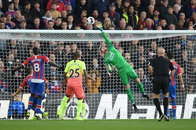 Wayne Hennessey was kept busy against the Champions. (Photo by Alex Davidson/Getty Images)