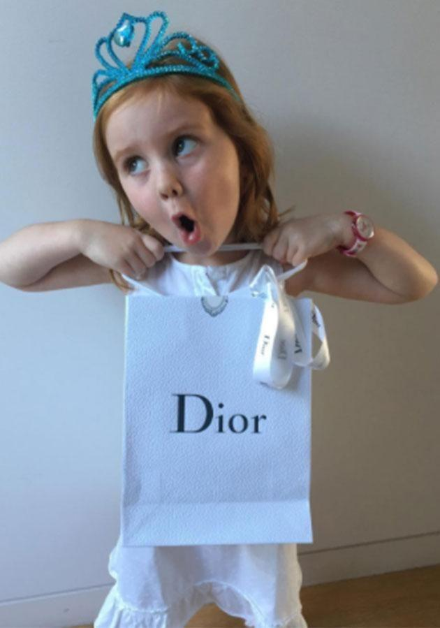 What? A present from Dior? No way! Photo: Instagram