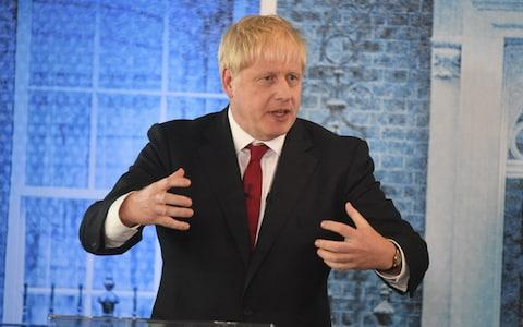 Boris Johnson at the leadership debate in London. - Credit: Andrew Parsons / i-Images /i-Images Picture Agency