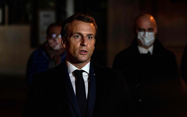Speaking at the scene, President Macron urged his compatriots to defend the values of the Enlightenment - GETTY IMAGES