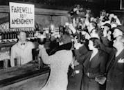 <p>Bring on the open bar! Prohibition was repealed on December 5, 1933, meaning wedding guests could now legally raise a glass to the newlyweds.</p>