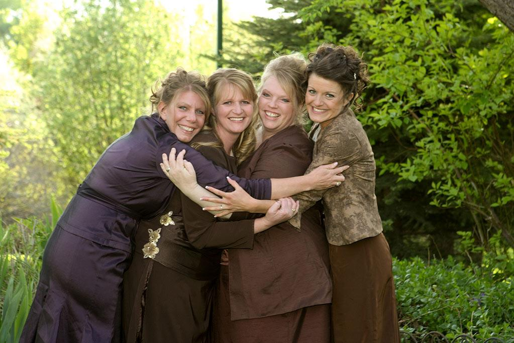 """Meri, Christine, Janelle, and Robyn are the """"Sister Wives."""""""