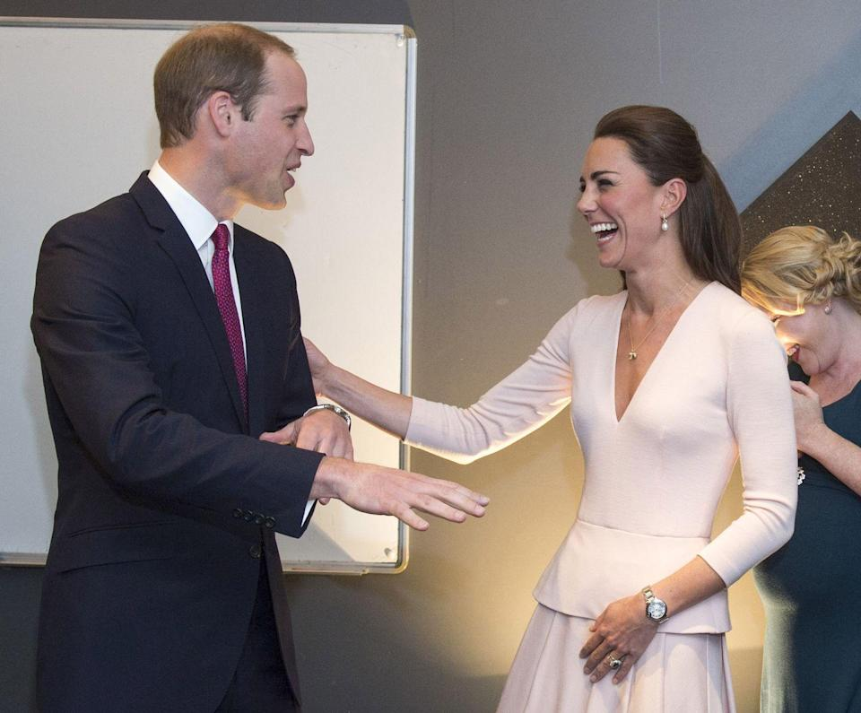 <p>Kate laughed as Prince William tried his hand at spinning records while visiting a youth community centre during their 2014 Australia Tour.</p>