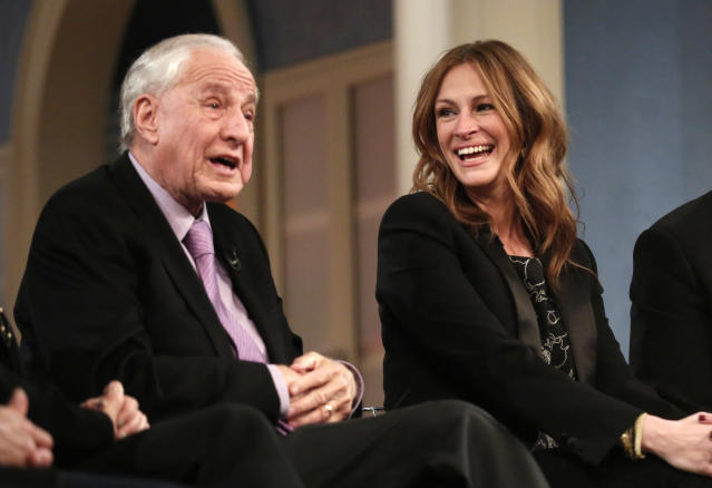"TODAY -- Pictured: (l-r) Garry Marshall and Julia Roberts appear on NBC News' ""Today"" show -- (Photo by: Peter Kramer/NBC/NBC NewsWire via Getty Images)"