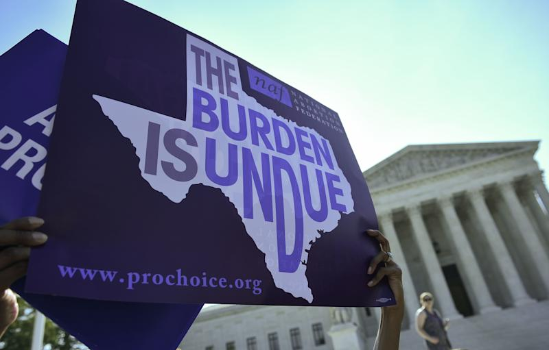 A federal judge has placed a temporary injunction on Texas's anti-abortion Senate Bill 8.  (MANDEL NGAN via Getty Images)
