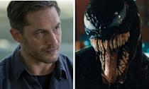 Tom Hardy plays Eddie Brock, an investigative journalist, who has to share his body with the titular villain Venom after the alien parasite takes over.
