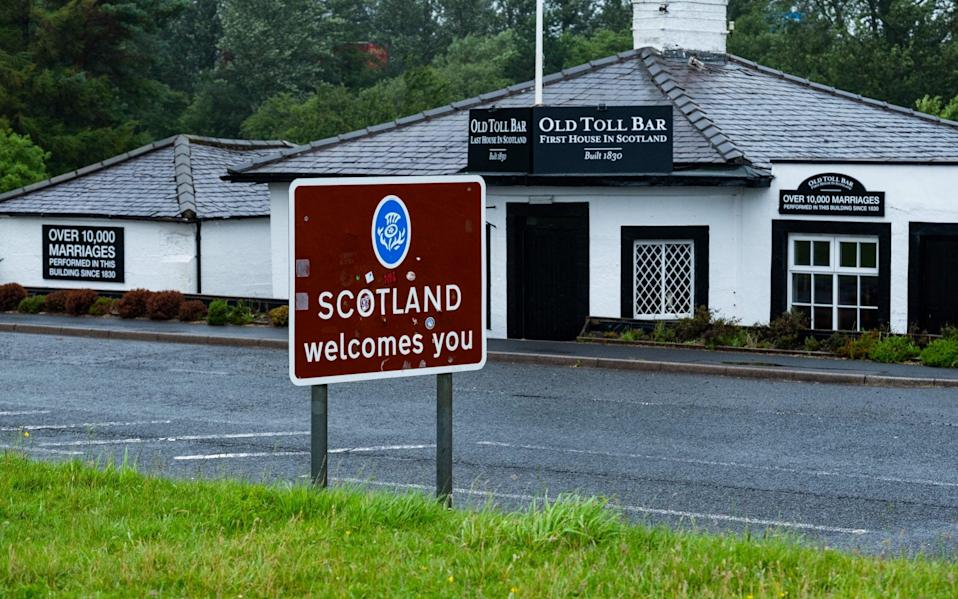 The Old Toll Bar on the border between Scotland and England, Gretna - Stuart Nicol