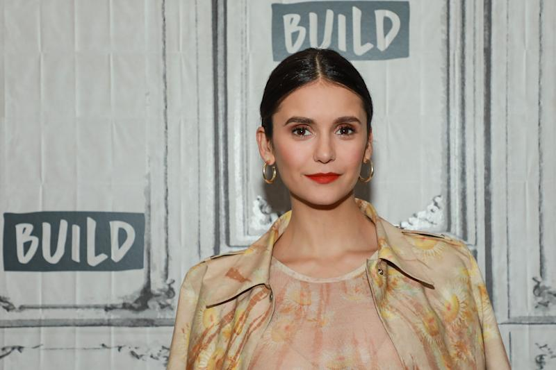 NEW YORK, NY - OCTOBER 07: Nina Dobrev at Build Studio on October 7, 2019 in New York City. (Photo by Jason Mendez/Getty Images)
