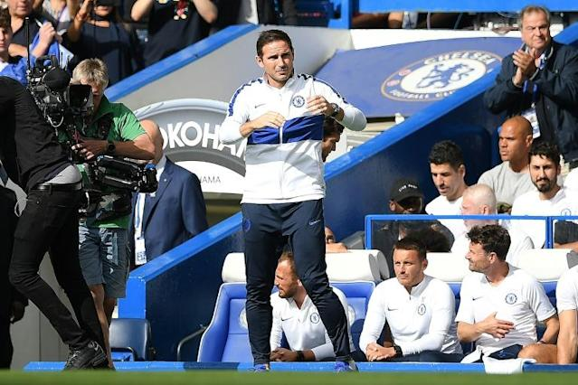 Chelsea manager Frank Lampard was frustrated on his homecoming (AFP Photo/Daniel LEAL-OLIVAS)