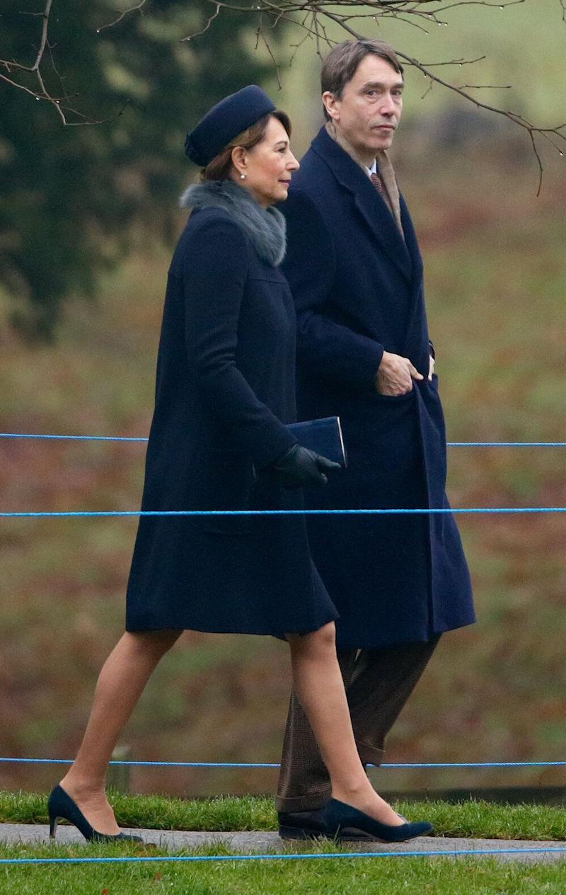David Cholmondeley pictures with Kate Middleton's mother Carole in 2017