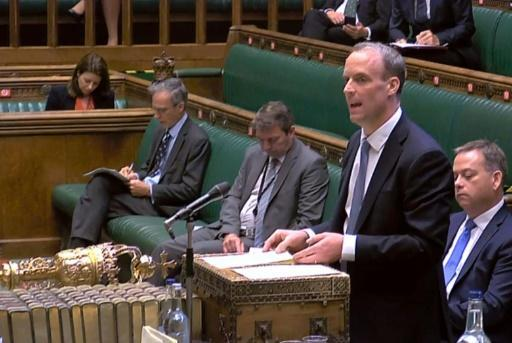 Britain's foreign minister Dominic Raab also announced an extension to an arms embargo already imposed on mainland China