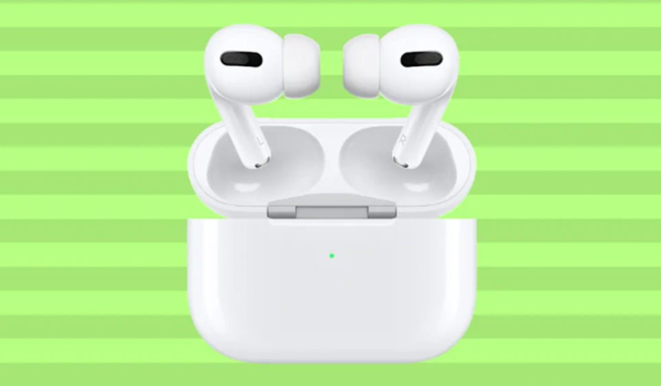 Pop 'em in and rock out. The super-popular AirPods Pro on sale now! (Photo: Amazon)
