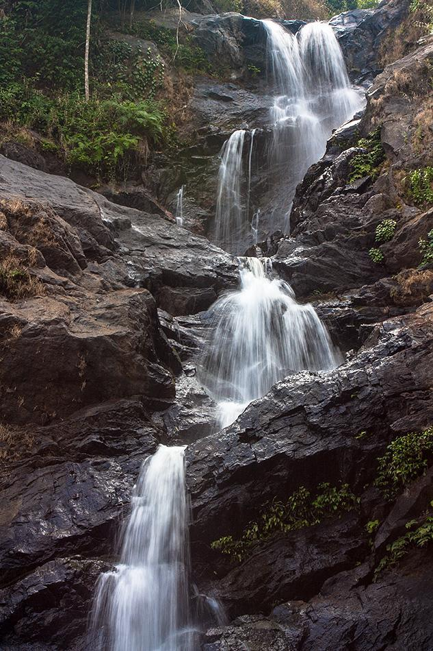 Iruppu Falls: These picturesque waterfalls are situated at the edge of the Brahmagiri range of the Western Ghats in Karnataka's Kodagu district, about 50 km from the district headquarters at Madikeri. They are also known as the Lakshmana Theertha Falls, a name derived from the Lakshmana Theertha River, a tributary of the Cauvery River that rises in these hills.