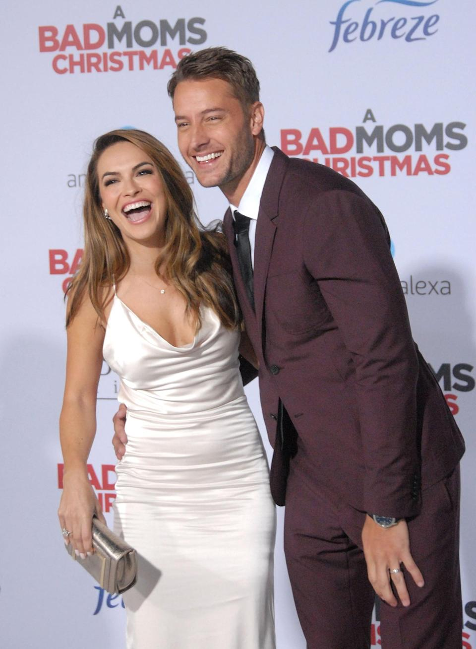 """<p>Two days later, <a href=""""https://www.popsugar.com/celebrity/Justin-Hartley-His-Wife-Bad-Moms-Christmas-Premiere-44200807"""" class=""""link rapid-noclick-resp"""" rel=""""nofollow noopener"""" target=""""_blank"""" data-ylk=""""slk:the pair made their red carpet debut"""">the pair made their red carpet debut</a> as a married couple at the LA premiere of <strong>A Bad Moms Christmas</strong>.</p>"""