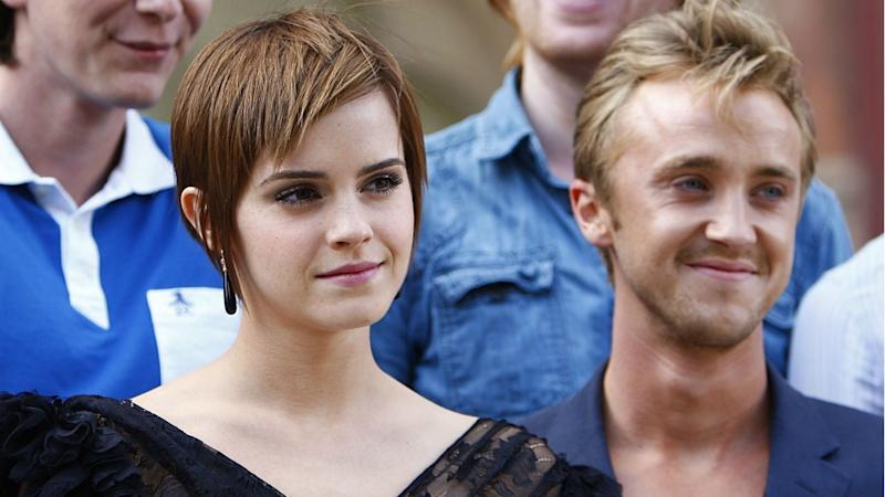 Emma Watson and Tom Felton Reunite With 'Harry Potter' Co-Stars for Epic Holiday Photo
