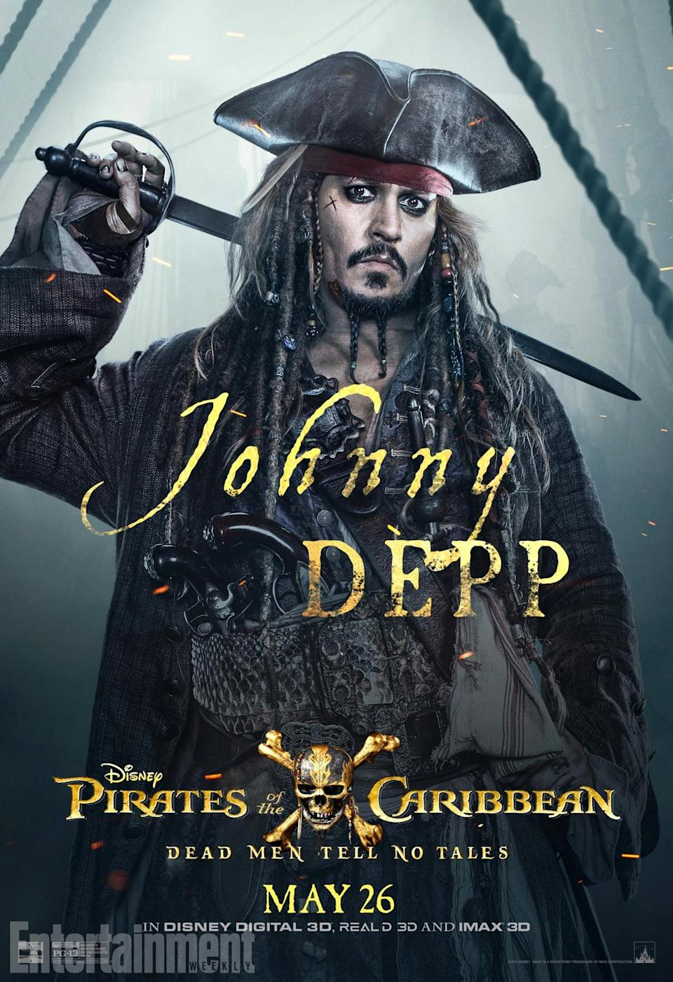 <p>He's back – Johnny Depp stars as Captain Jack Sparrow… and he's off on an epic adventure to stop an age-old nemesis. Once again, he's after an old, seafaring artefact to save the day. But can he send Captain Salazar and his ghostly crew back to where they belong?<br>(Credit: Disney) </p>