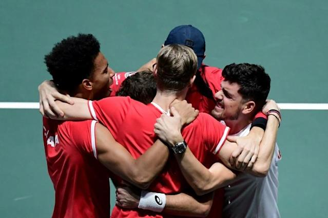 Canada reached their first Davis Cup final (AFP Photo/JAVIER SORIANO)