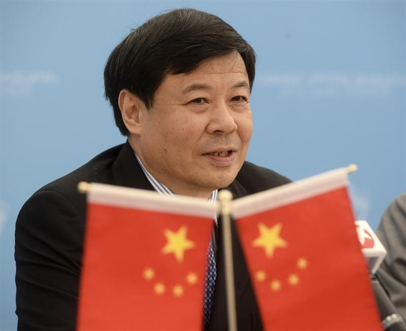 China's Vice Finance Minister Zhu Guangyao attends a briefing at the G20 Summit in Strelna near St. Petersburg