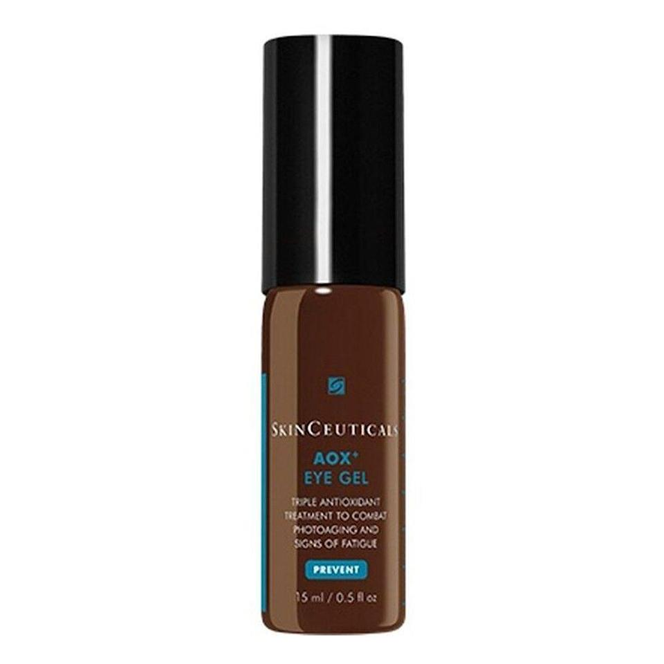 "<h3>SkinCeuticals AOX+ Eye Gel</h3><br>Phloretin, vitamin C, and ferulic acid in a potent serum-in-a-gel formula help this antioxidant-rich potion penetrate the skin and work to correct signs of photodamage, as well as puffiness and dark circles.<br><br><strong>SkinCeuticals</strong> SkinCeuticals AOX+ Eye Gel, $, available at <a href=""https://go.skimresources.com/?id=30283X879131&url=https%3A%2F%2Fwww.dermstore.com%2Fproduct_AOX%2BEye%2BGel_36676.htm"" rel=""nofollow noopener"" target=""_blank"" data-ylk=""slk:DermStore"" class=""link rapid-noclick-resp"">DermStore</a>"