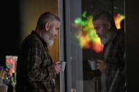 """This image released by Netflix shows George Clooney in a scene from """"The Midnight Sky."""" (Philippe Antonello/Netflix via AP)"""