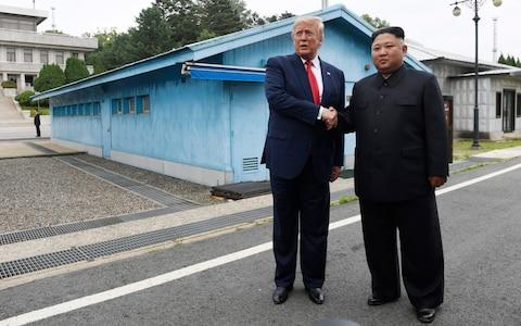 Kim Jong-un and Donald Trump agreed to resume talks when they met last month - Credit: Susan Walsh/AP