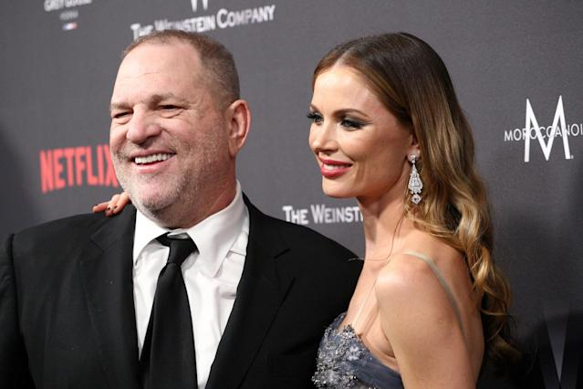 Harvey Weinstein and Georgina Chapman. (Photo: Getty Images)