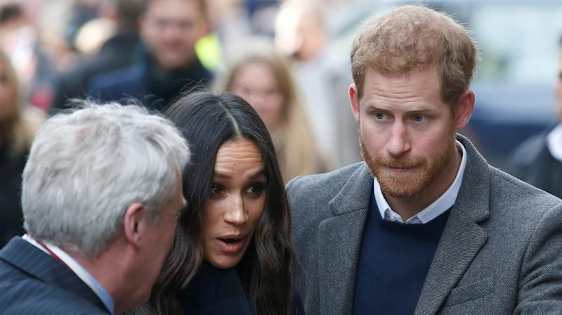 Prince Harry and Meghan Markle headed to Scotland on Tuesday for their first official joint visit to the country.