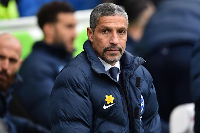 Brighton boss Chris Hughton hoping to spring Tottenham shock after Manchester United humiliation