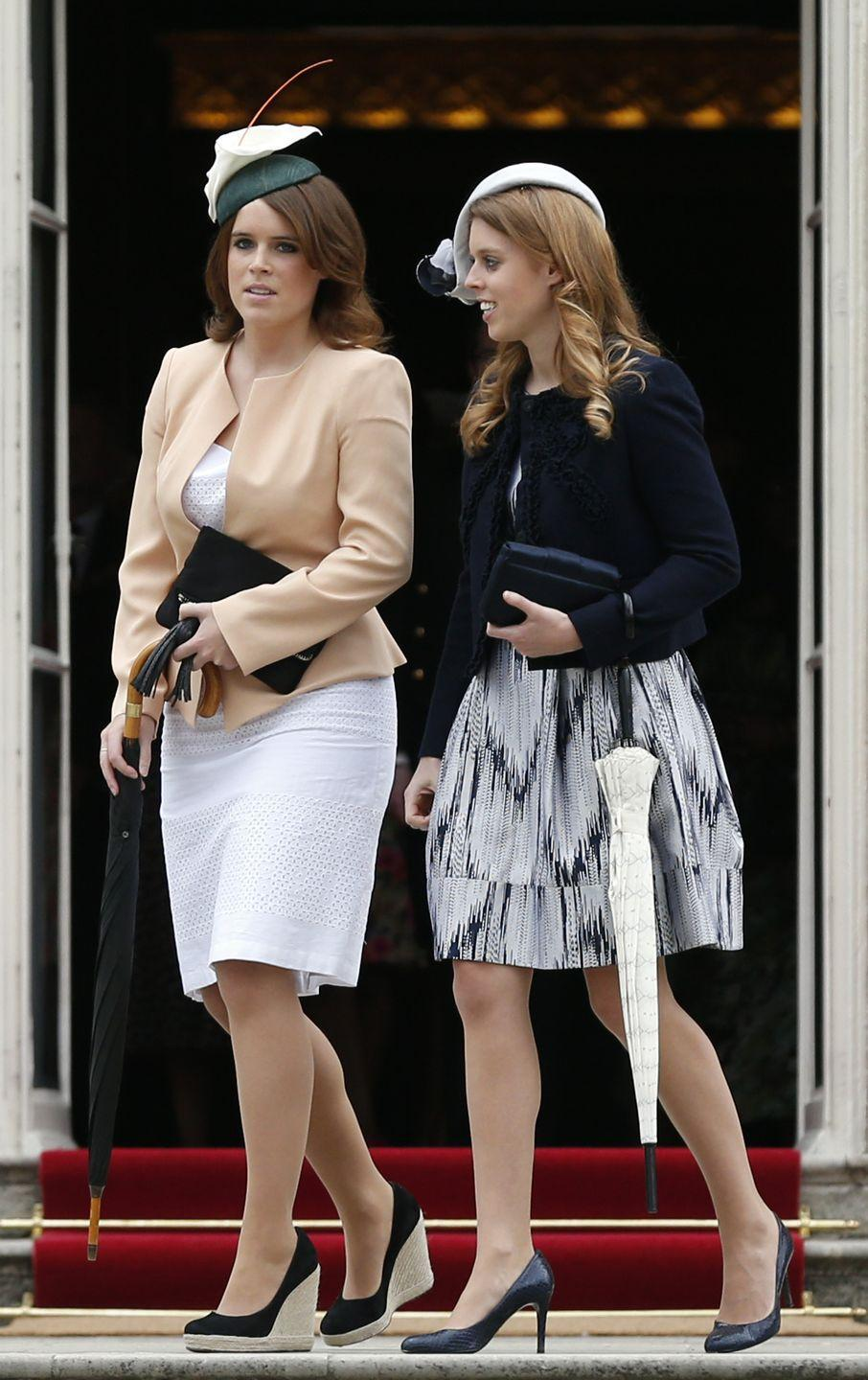 <p>Princess Eugenie attended one of the Queen's annual garden parties wearing an orchid-inspired fascinator and espadrilles back in 2013.<br></p>